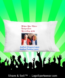 Trisha Blue Water Music Pillow Cases Design Zoom